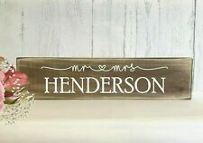Wedding Top Table Sign Personalised Rustic Mr and Mrs Venue Decoration Gift