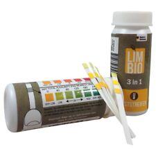3 in 1 Teststreifen Wassertest Freies Chlor, PH Ph-Wert, Alkalinität 100 Stk.