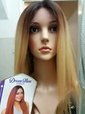Silk based Swiss lace, human hair wig, hand knotted, ombre, golden blonde, lace