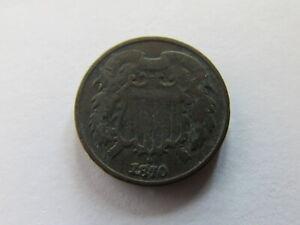 1870 Two Cents Large Copper Coin US 2 Cent Piece Philadelphia Odd Denomination