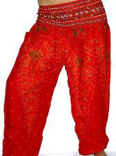 Sarouel Femme Pantalon Ethnique Aladin Harem Pant Aladdin yoga rouge red