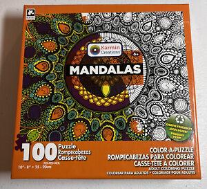 Karmin Creative Color Mandalas 100 Piece Jigsaw Puzzle