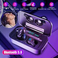 Bluetooth 5.0 Waterproof Headset TWS Wireless Earphones Stereo Earbuds Headphone