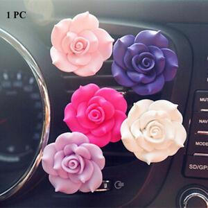 Car Outlet Vent Clip Perfume Ornament  Camellia Decoration  Air Freshener Clamp