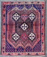 ANTIQUE KARABAKH RUG, GORGEOUS WOOL TRIBAL CAUCASIAN CARPET (6FT X 5FT) CLEANED