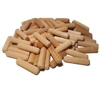 FREE POSTAGE WOODEN FLUTED GROOVED DOWELS 50~100~250~500~1,000-8mm x 30mm