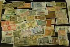 FOREIGN CURRENCY LOT of 65 Mixed World Paper Notes - Many Different Countries