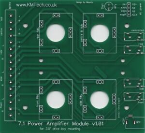 NEW !! KMTech 7.1 Channel Power Amplifier 8x15W For PC Tower Computers PCB DIY