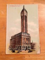 Singer Building New York City NY early antique postcard
