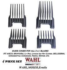 Wahl 5 in 1 Blade Attachment Guide COMB 4pc SET For ARCO,BRAVURA,FIGURA,CHROMADO