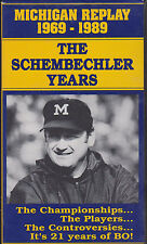 """MICHIGAN REPLAY 1969-1989: THE SCHEMBECHLER YEARS"" VHS 1990"