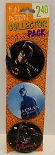Vintage 1992 Batman Returns Movie Trend Fun Button Collector Set Button Pins NEW