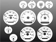 1981-1985 Chevrolet S10 S15 Blazer Dash Cluster White Face Gauges 81-85