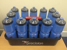 12 x BLUE PRECISION WATER BOTTLES + CARRY TRAY