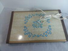 Vintage Med-Century Blue Cornflower Warm-O-Tray Warming Tray Model #60