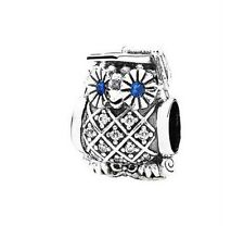 Authentic Pandora Sterling Silver S925 Graduate Owl CZ Charm 791502NSB