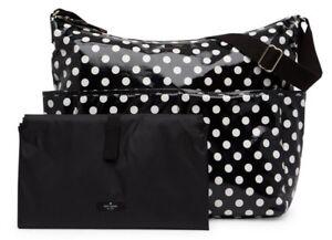 Kate Spade Daycation Serena Baby Diaper Shoulder Bag Polka Dot White / Black