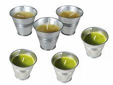 6 Citronnelle Bougie parfumée dans zinn-eimer, vert + jaune, nur für extérieur,
