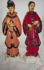 VINTAGE CHINOISERIE ASIAN PORCELAIN MAN AND WOMAN FIGURINE