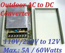 Universal AC to DC Inverter Converter 110V / 220V to 12V 5A 60Watts Power Supply