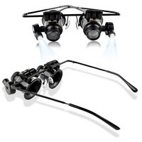 20x Jewelers Magnifier Magnifying Glasses Eyeglasses for Gold Diamond Jewelry