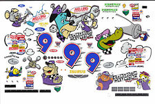 #9 Lake Speed Wacky Racing Ford 1/64th - HO Scale Slot Car Decals