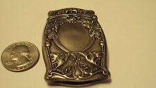 Antique Art Nouveau Sterling Silver Gorham Ornate Floral Match Safe