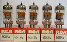 AUDIO TUBES - 5 new RCA 6GH8A matching NOS NIB mutual conductance tested tube