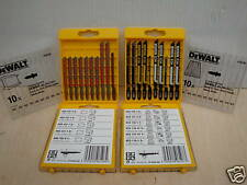 2 x CASSETTE PACKS OF 10 DEWALT JIGSAW BLADES WOOD DT2290 & METAL DT2292