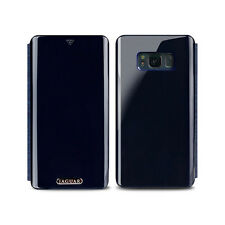 For iPhone Galaxy S8 S9 Metallic Hybrid Full Cover Hard Flip 3 Card Wallet Case