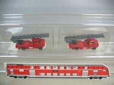 K954-0,5# 2x Wiking HO Opel Blitz Feuerwehr Leiterwagen FW, 602, TOP