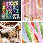 3M Hanging Paper Garland Flora Chain Birthday Wedding Party Ceiling Banner Decor
