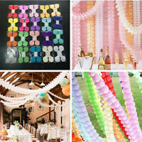 3M Hanging Paper Garland Flora Chain Birthday Wedding Party Ceiling Banner Decor