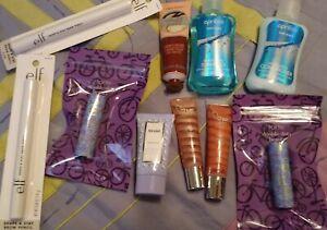 10 Piece stocking stuffer beauty lot. Deluxe samples. New. TARTE, AWAKE, MORE