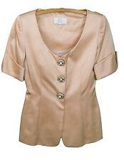 BADGLEY MISCHKA wheat colored 3 Button Women's Jacket Blazer sz 6