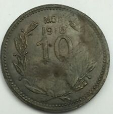 Coin Mexico Revolution 10 Centavos Morelos 1916 Copper
