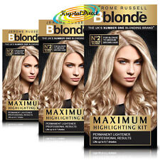 3x Jerome Russell Bblonde Highlighting Permanent Kit No. 2