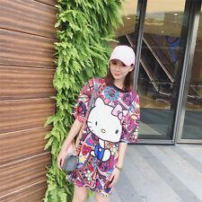 Hello Kitty Cat Preppy Vintage T-shirt Dress Princess Dolly Mori Girl Japanese