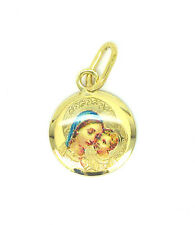9ct Gold Laser Etched Madonna and Babe Pendant
