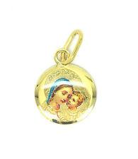 9ct oro Madonna e Babe Ciondolo con Smalto Dettaglio 6913