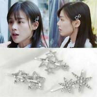 Women Girl Crystal Star Hair Clip Barrette Stick Hairpin Hair Accessories Gifts