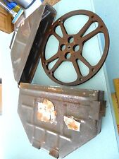 Vtg WW11 Era Russian 16mm  Movie Reel and  Metal Can Case 14""
