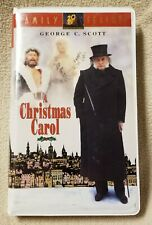 A CHRISTMAS CAROL Vhs Video Tape 1984 GEORGE C SCOTT 20th Century Family Feature