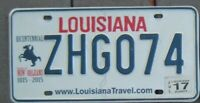 LOUISIANA New Orleans BICENTENNIAL License Plate -- Nice cond - ONE your choice