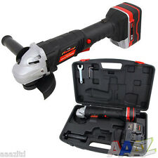 18V Volt 115mm Cordless Angle Grinder + 1 Battery + Carry Case