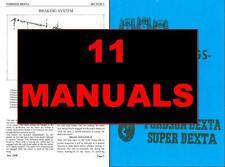 FORDSON Dexta/Super Dexta Trattore Manuale Servizio/Super Major/Elettrico KQ