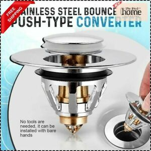 Stainless Steel Bounce Core Push-Type Converter Drain Filter Bathroom Quality