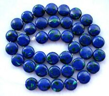 Azurite Malachite Flat Coin/Disc Beads 10mm16""