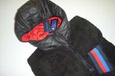 tommy hilfiger mens designer black fleece 1/2 zip...