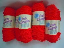lot of 8 Lion Brand Chenille 112 RED 1.4 oz 87 yds ea -same color lot 70927.01